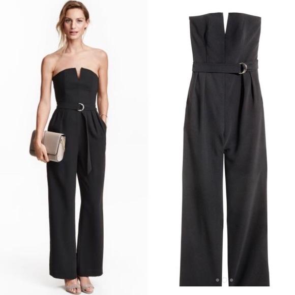 33 off h m pants h m black strapless jumpsuit from sol. Black Bedroom Furniture Sets. Home Design Ideas
